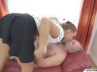 college cute girls grandpa old old and young