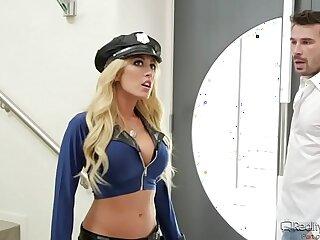 ass big blonde blowjob boobs office