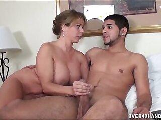 bedroom big dick handjob mature milf