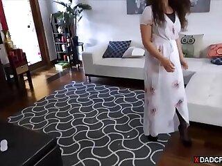 ass blowjob brunette creampie daddy daughter