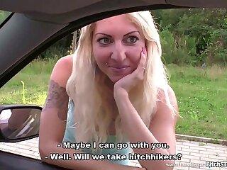 amateur blonde blowjob czech european outdoor