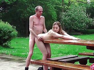 blowjob doggystyle grandpa licking mature old