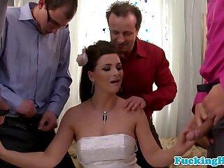 blowjob bride bukkake cumshot european facial