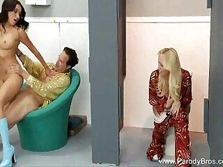 bathtub blonde blowjob brunette cumshot facial