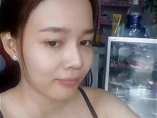 asian cute japanese masturbating solo