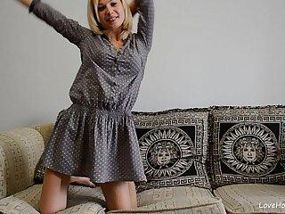 blonde sexy girls solo stripping webcam