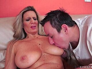 blowjob cumshot dick granny huge licking