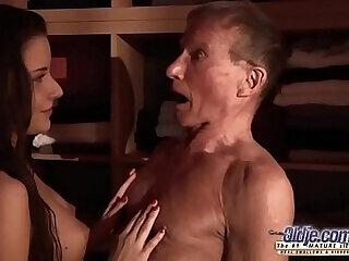 blowjob cumshot dick fingering fucking grandpa