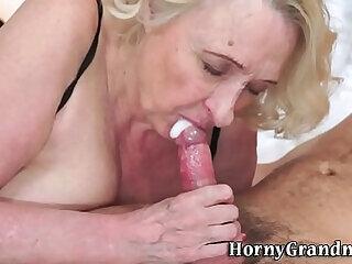 blowjob cougar cumshot granny handjob hardcore