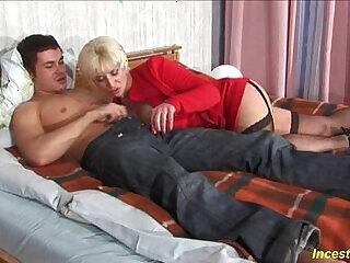 bedroom family mom son
