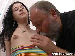 anal blowjob brunette licking old old and young