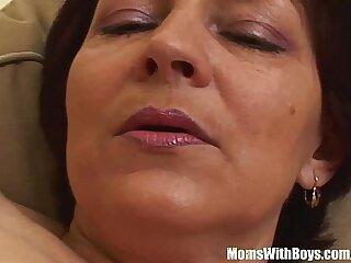 blowjob brunette cougar cumshot fucking granny