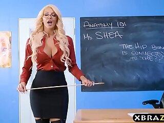 ass big blonde lingerie milf student