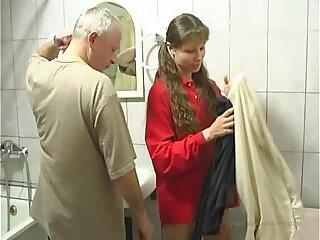 family girls oiled teen