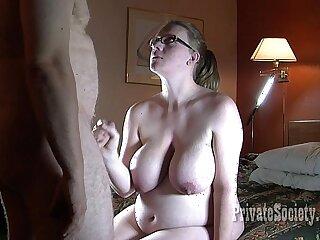 amateur bbw big boobs cumshot glasses